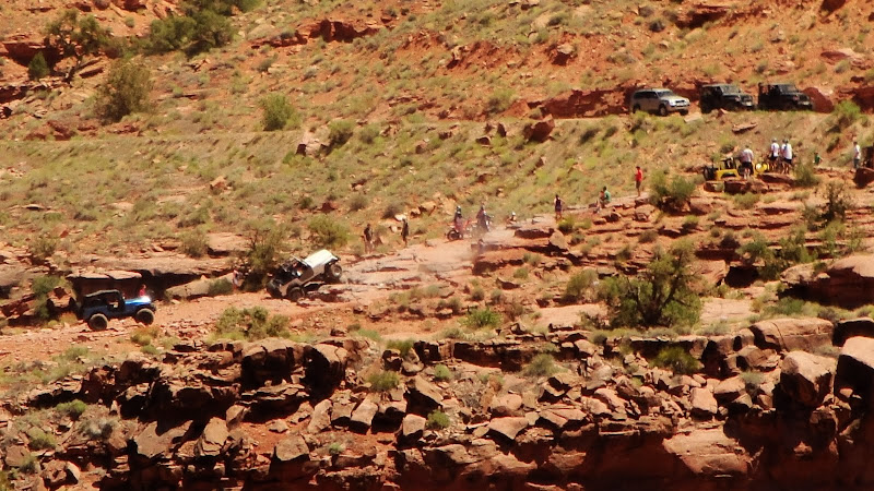 Jeeps on Amasa Back, Moab Utah