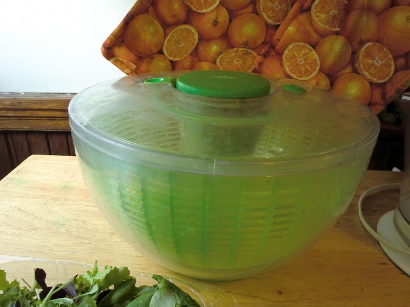 the salad spinner living on the counter