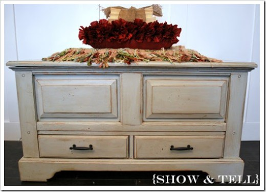 bench and hall tree 013 - How I Glaze Furniture} Sweet Pickins Furniture