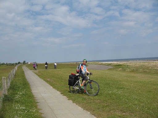 Platus Baltijos pakrantėje dviračių takas Vokietijoje