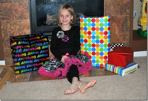 Halle and her presents