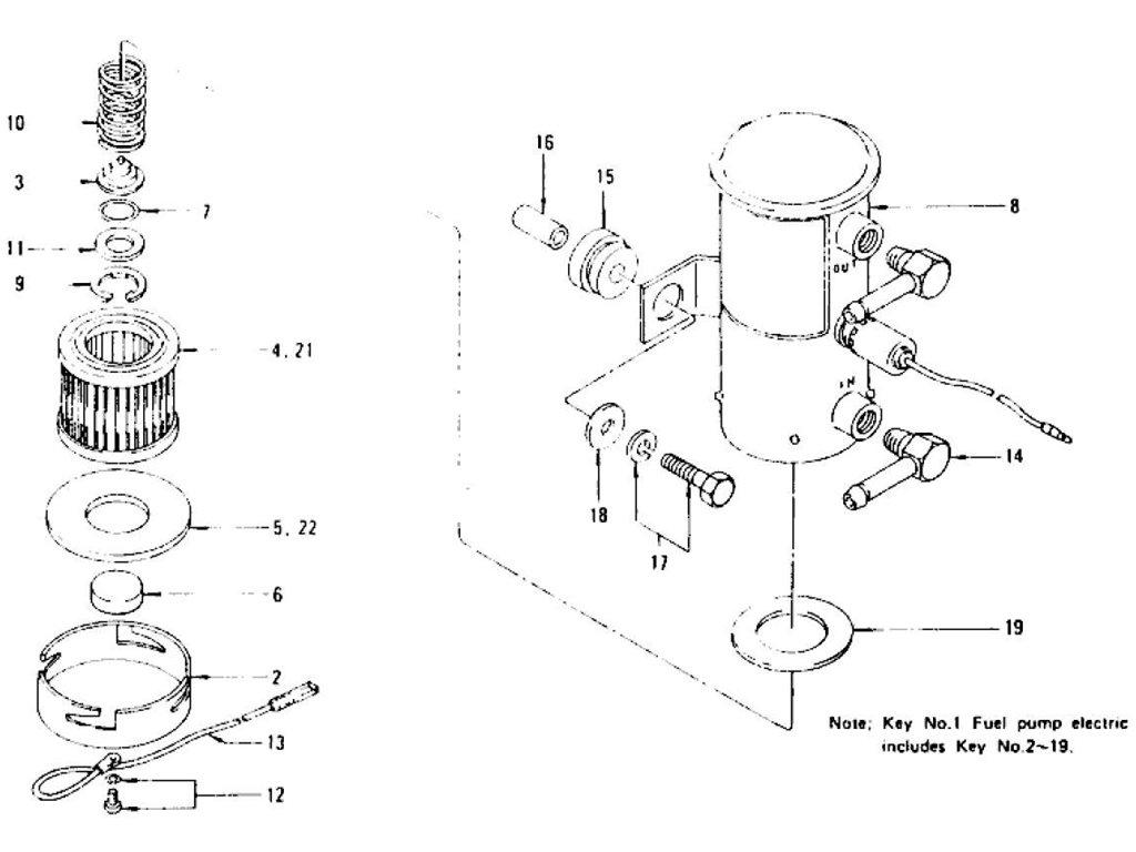 Datsun 240z 260z Electric Fuel Pump From Jul 72