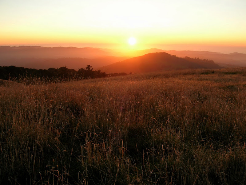 Sunset from atop Borel Hill