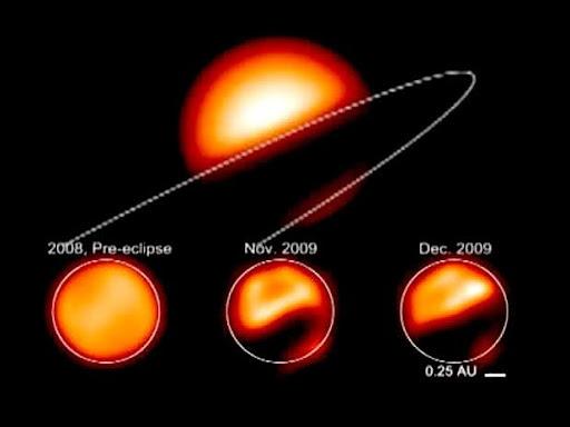 É uma estrela binária eclipsante que durante muito tempo....