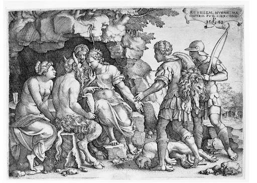 Aquiles con Tetis y Quirón en la BNE