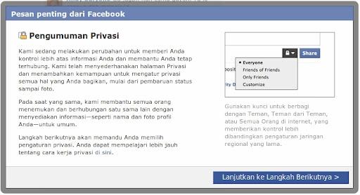 pesan penting dari facebook