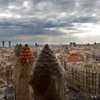 Sagrada Familia en Barcelona colores-en-techos-basilica-sagrada-familia