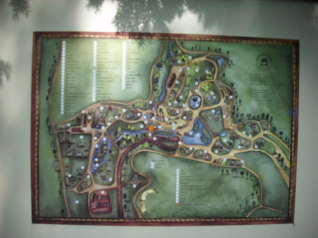 Mapa oliwskiego zoo