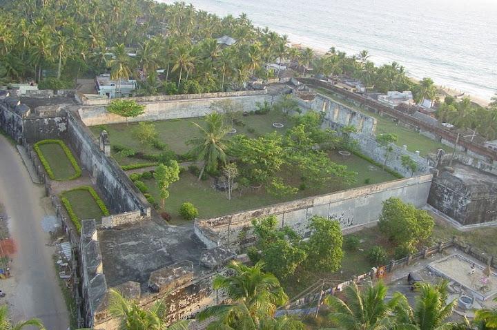Anjengo fort view,British Fort in Kerala
