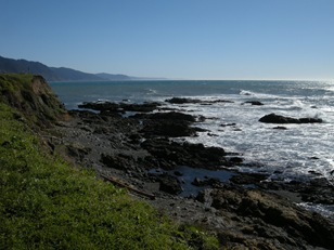 the tidepools at sheltered Cove