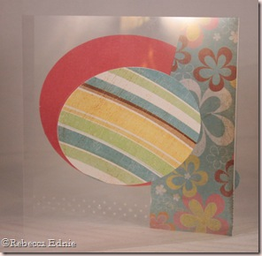 clear floral card back