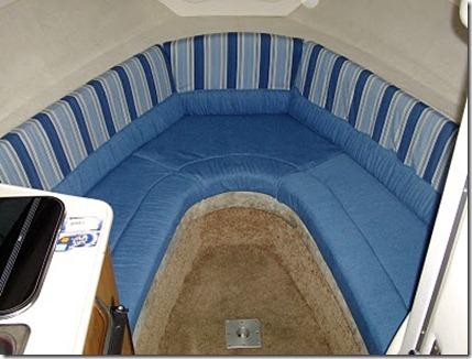 reupholstered boat