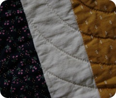 Close-up of quilt stitches