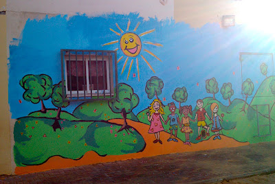 Wall Painting At The Kindergarten On Off