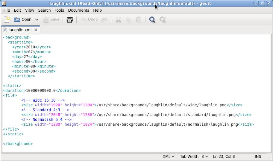 Laughlin XML File