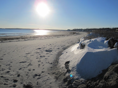 Ocean and snow