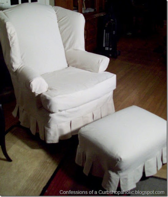 slipcover chair and coffee table 018