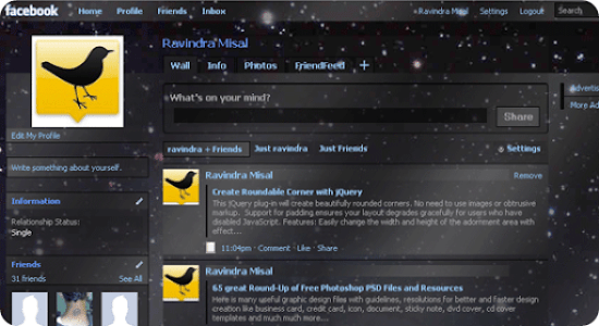 Awesome facebook themes