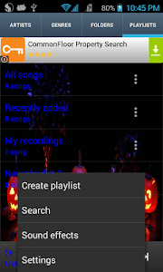 Halloween Theme Music Player screenshot 1