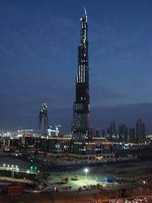 Burj Dubai at night