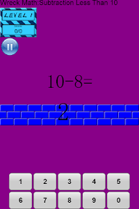 Wreck Math: Subtraction screenshot 1