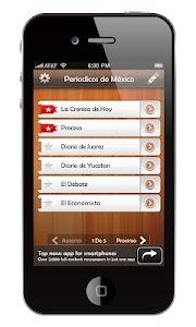 Periodicos de México screenshot 0
