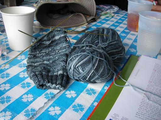 Kens sock at Cabbage Island