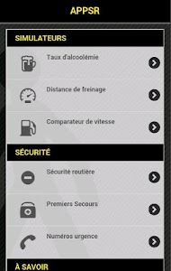 APPSR  Appli Sécurité Routière screenshot 0