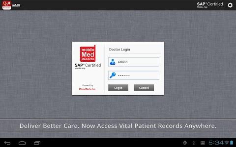 mMR (mobile Medical Records) screenshot 1