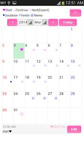 Menstrual Diary screenshot 0