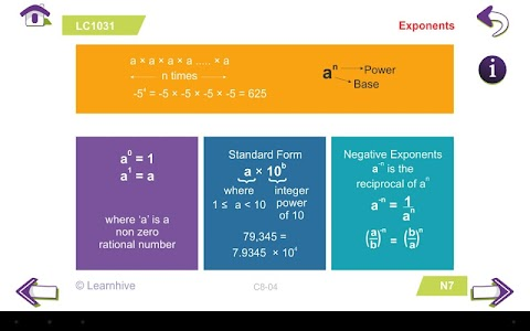 Grade 8 Math Learning Cards screenshot 16