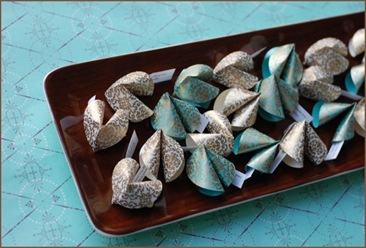 Favors:  Paper Fortune Cookies