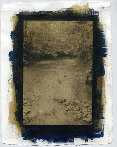 Spring Creek Park - Cyanotype over 3 layer Gum