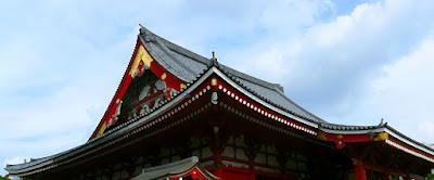 Tejado del templo en Asakusa