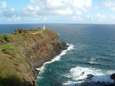 Kilauea lighthouse from afar.  Its like a postcard!