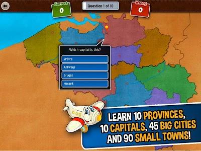 GeoFlight Belgium: Geography screenshot 11