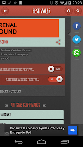 Festivales screenshot 2