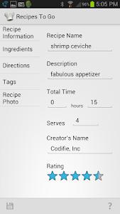 Recipes to Go screenshot 2
