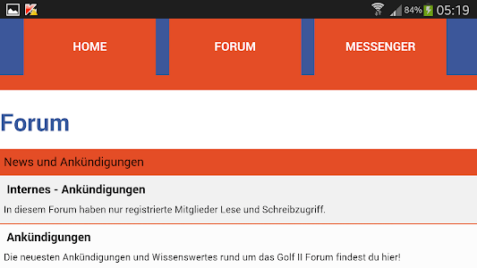 GOLF 2 FORUM screenshot 5