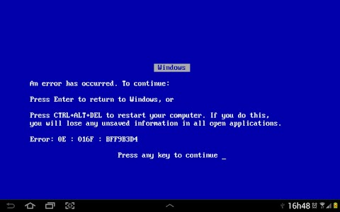 Blue Screen of Death screenshot 0