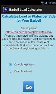 Barbell Load Calculator screenshot 0