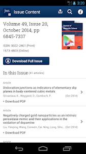 Journal of Material Science screenshot 2