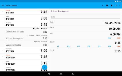 Work Tracker screenshot 4