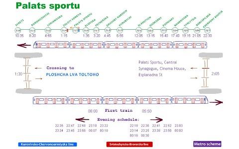 Scheme&Schedule of Kyiv metro screenshot 2