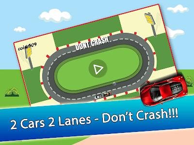 2 Cars 2 Lanes - Don't Crash! screenshot 10