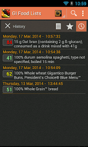 Glycemic Index screenshot 3