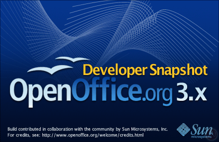 OpenOffice.org 3.0 splash screen