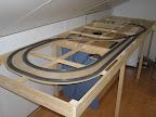 De eerste rails