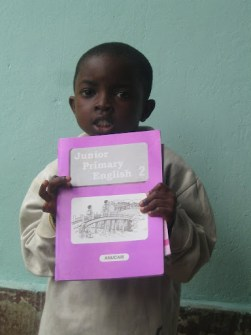 ONe of the children with their gift