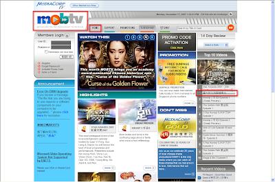 MOBTV Homepage